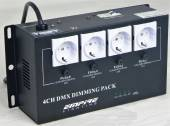 4-Kanal Analog & DMX 4x 5A Schuko Dimmer-Pack, max. 3680W, 16A Automat, EDX-4E